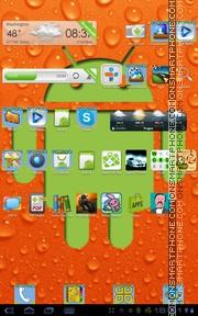 Скриншот темы Orange Android
