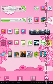 Pink Flowers 10 tema screenshot