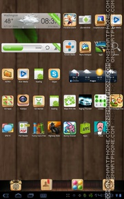 Wooden Box 01 tema screenshot