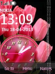Pink Tulips theme screenshot