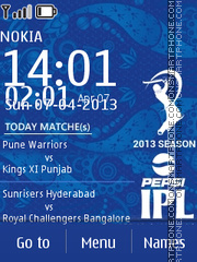 Ipl 6 Timetable theme screenshot