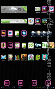 Pink Glow tema screenshot