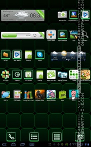 Green Magic Cube theme screenshot