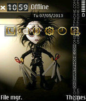 Edward Scissorhands theme screenshot