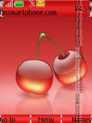Yummy Glossy Cherries tema screenshot