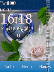 Скриншот темы White Flowers 03