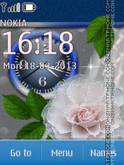 White Flowers 03 theme screenshot