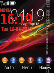 Xperia - Z Exclusive theme screenshot
