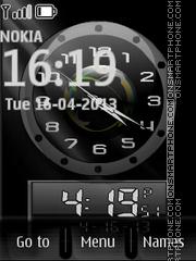 12 Hour Dual Clock es el tema de pantalla