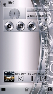 Silver tema screenshot