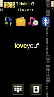 Love You by Zoya tema screenshot