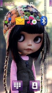 Скриншот темы Doll Wearing Hat