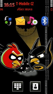 Angry Birds Batman theme screenshot