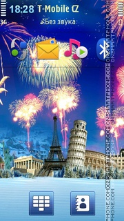 World Fireworks theme screenshot