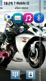 Yamaha YZF-R1 theme screenshot