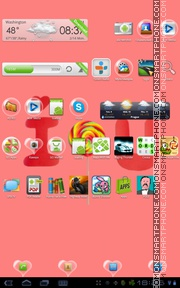 Love Bubble 01 tema screenshot