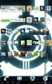 Tron Legacy 01 theme screenshot