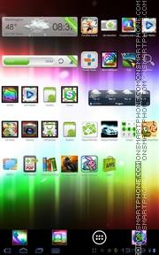 Capture d'écran Rainbow ICS 01 thème