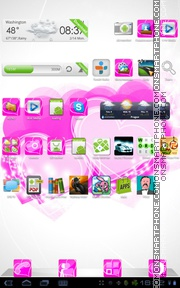 PinkGL Hearts tema screenshot