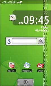 Скриншот темы Green Android Jelly Bean