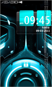 Tron 02 theme screenshot