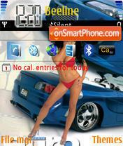 Girls and Cars 01 es el tema de pantalla
