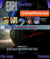 Nav Transformers theme screenshot