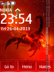 Scorpion tema screenshot