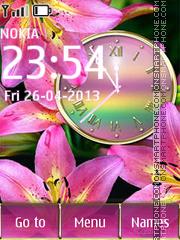Capture d'écran Lilies thème