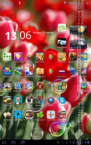 Spring Flowers 11 theme screenshot