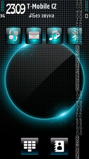 Glow Blue HD theme screenshot