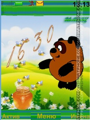 Winnie Pooh theme screenshot