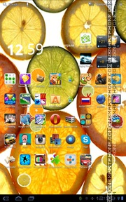 Colorful Fruit Slices theme screenshot