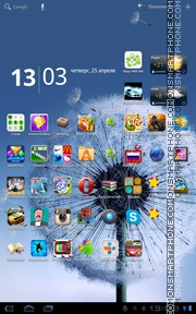 Galaxy S3 Dandellion theme screenshot