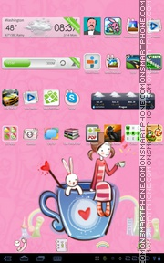 Sweet Lover Girl tema screenshot