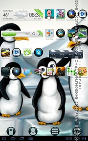 Penguins 03 theme screenshot