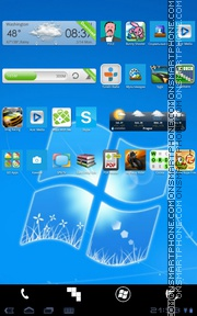 Android - Windows 8 tema screenshot