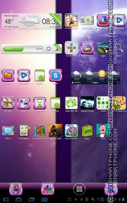 Purple Glass Theme-Screenshot