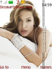Angelina Jolie 25 theme screenshot