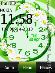 Daisy Dual Clock theme screenshot