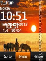 Africa Digital Clock theme screenshot