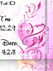 New Love clock & date theme screenshot