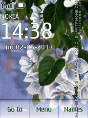Flowering theme screenshot