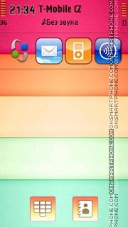 Colorful Shelf theme screenshot