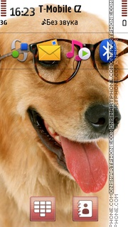 Dog In Glasses theme screenshot