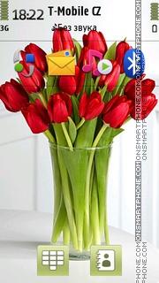 Tulips In Vase theme screenshot