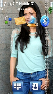 Kajal Aggarwal In Jeans theme screenshot