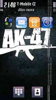 AK47 Music Band theme screenshot