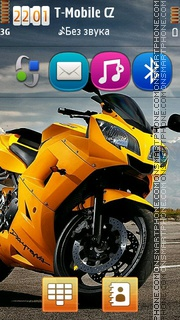 Скриншот темы Yellow Bike