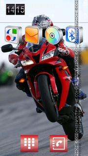 Скриншот темы Red Bike 03